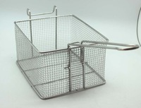 Stainless steel deep fry basket fried electric fryer scamper net square basket fried