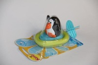 Baby bath toys penguin bath toys infant educational toys playing water toys free shipping