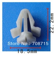 100PCS Free Shipping Grille Clip For Nissan 62318-01W00 62318-V7000 Auto Plastic Fastener Rivet Plastic Clips For Cars