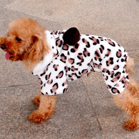 Factory direct pet pet clothes pet clothes winter sweater paparazzi four legs sweatshirt - Brown Leopard
