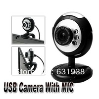 U19-A Night Vision Webcam 30.0MP, Microphone Built In,picture shot button,6LED,FREE SHIPPING