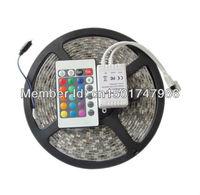 RGB 3528 SMD Flexible Not waterproof 300 LED Strip Light + 24 key IR Remote Control !! Free shipping!!!