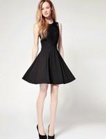 Super quality  women teen girls black lace slim sexy  dress