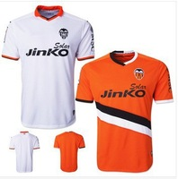 + + + best quality 13/14 valencia home jersey football jersey Thailand quality sports training football jersey free shipping
