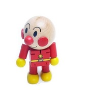 Hot sale changeable cartoon wooden dolls cute Anpanman baby wooden toy joint movement