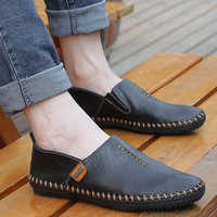 New arrival 2013 the tide skateboarding shoes popular men's low-top shoes shoes genuine leather handmade shoes men