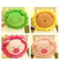 Super cute plush toy Sunflowers cartoon plush pillow  Flower shape pillow cushions Home Decoration Round sitting cushion  1pc