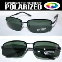 Rimless 2014 Driver's TAC enhanced polarized polaroid polarised golf ski UV 400 Men's sunglasses with foam bag n box