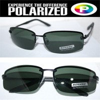 Rimless 2014 Driver's TAC enhanced polarized polaroid polarised golf ski UV 400 Men's sunglasses with foam bag n box