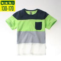 2014 New boys clothes children t shirt outerwear child 100% cotton big boy short-sleeve summer t shirt free shipping