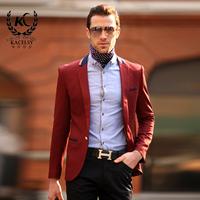 2014 men's casual blazer outerwear European and American style slim blazer business casual blazer French gentleman blazer