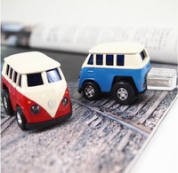 Wholesale New Arrive Cartoon Bus USB Flash Pen Drive 2gb 4gb 8gb USB 2.0 Flash Drives Thumb Stick