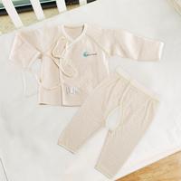 Pureborn organic cotton baby underwear set baby autumn 100% cotton long-sleeve set of underwear and underpants