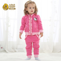 2014 spring clothes kitten princess set baby clothes female child spring and autumn 0-1 year old
