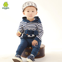 2014 Comfortable ! spring and autumn baby set 100% cotton infant sweatshirt set children clothes 0-1 - 2 - 3