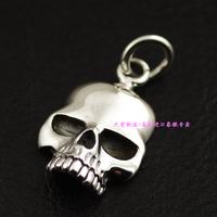 925 pure silver thai silver carzy pig skull pendant