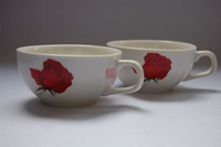Queen rose red teacup breakfast cup