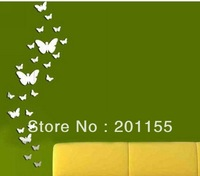 2014 Freeshopping 3D mirror wall stickers 30 Butterfly Kids love home decoration
