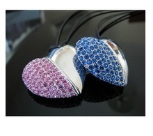 crystal heart flash drive promotion