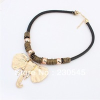 2014 New Fashion Women Statement Necklaces Trendy Alloy Elephant Bib Choker Necklace Korean Style High Quality Jewelry