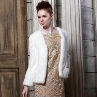 2013 mink fur coat fashion V-neck short design mink fur coat