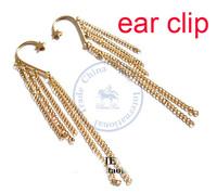 Earrings ear clip rings Fashion for women Girl's lady chain star tassel design CN post