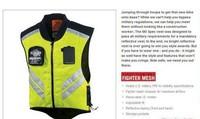 MIL SPEC MESH VEST motorcycle bike racing high visibility reflective warning cloth vest FLUORESCENCE GREEN riding jacket