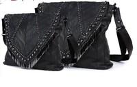 Autumn and winter hot-selling bag sheepskin messenger bag sheepskin piece women's handbag genuine leather women's bag one
