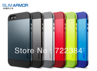5pcs/lot SGP Slim Armor Armour Case for Apple Iphone 5 5S Military Standard Hybrid PC+Silicone Cover Shockproof Tough Armor