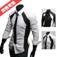 New 2014 Fashion Men Casual Luxury Stylish Slim Long Sleeve Dress Shirt