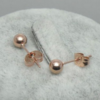 New arrival monoepoxide titanium earrings rose gold Women accessories