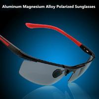 Polarized Sunglasses Men Sports Sun glasses Driver Driving Glasses  Alloy Sunglasses With box  black B8530