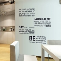English Alphabet Post Removable Wall Decor PVC Wall Stickers Wallpaper Stickers DF5206