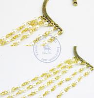 Earrings ear clip rings Fashion for women Girl's lady chain pearl rivet design CN post