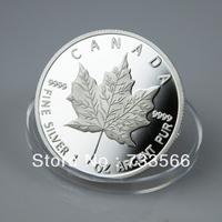High Quality! 1 Troy Ounce Maple Leaf Coins, Canada $5 Dollar Coins,2013 Plated Silver Coins 1 oz