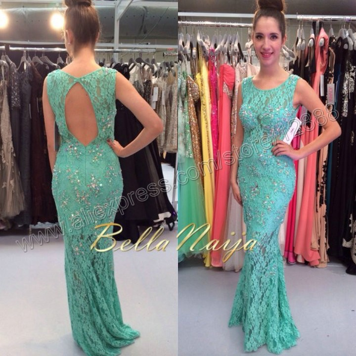 2014 New Free Shipping Custom Made Lace Party Dresses For Prom Floor Length Sleeveless(China (Mainland))