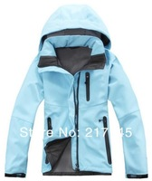 HOT! 2014 Brand High Quality Fleece Soft Shell Women's Climbing Sports Coat Fashion Outdoor Waterproof Charge Clothes Jacket