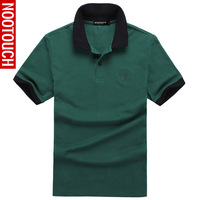 Summer short-sleeve 2013 turn-down collar solid color polo shirt male casual fashion polo