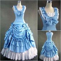Lolita long design elegant ruffle elegant gentlewomen belt after slim one-piece dress formal dress customize  hot
