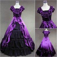 newest! free shippiong Lolita princess luxury long design fashion formal dress evening dress ball cos one-piece dress customize