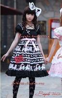 on sale free shipping Umbrella - lolita dress small baby dessert black cake expansion bottom high waist one-piece dress