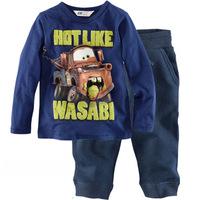 100% cotton 1pc retail 2-7 years kids pajamas car design
