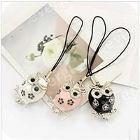 New Fashion Jewelry Owl Keychain Handbag Chain Pendant Free SHIP