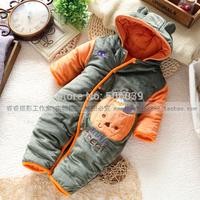 2014 new baby winter romper baby clothes newborn clothing cotton pumpkin autumn romper baby boy overalls