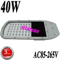 Retail free shipping  AC85-265V 40W led street light IP65 Bridgelux 130lm/W chips led streetlight 3 year warranty