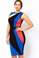 2014 new women striped bodycon dress  casual dress sexy dress  plus size