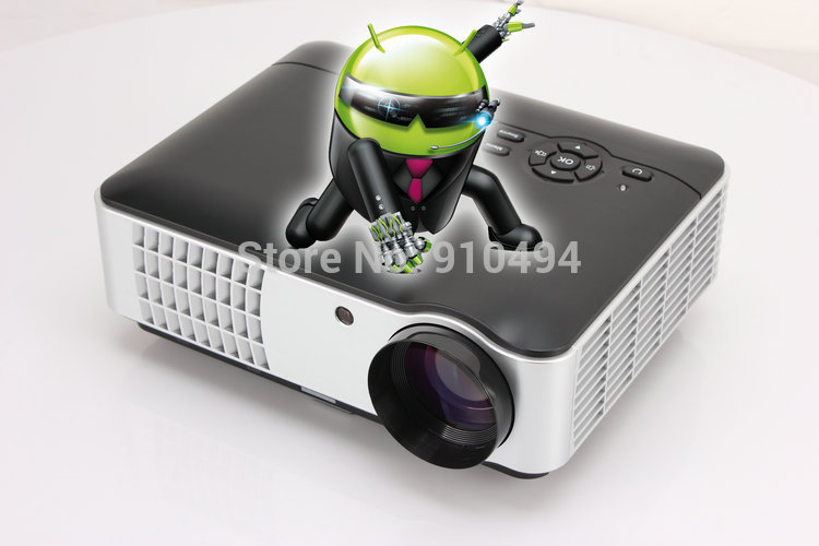 Top quality built-in android 4.2 wifi HD 1080p LED projector, max 4000 lumens overhead projector tv(China (Mainland))