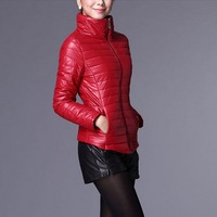 2013 autumn and winter short design PU down cotton cotton-padded jacket slim wadded jacket outerwear winter women's