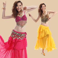Belly dance set high quality practice service dance set Fashion indian dance bra+skirt set