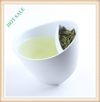 HOT Designer Brand Senior edible plastic Teacup Innovation Items No rust Tilt Smart Tea Cup White Filter Cups Free Shipping